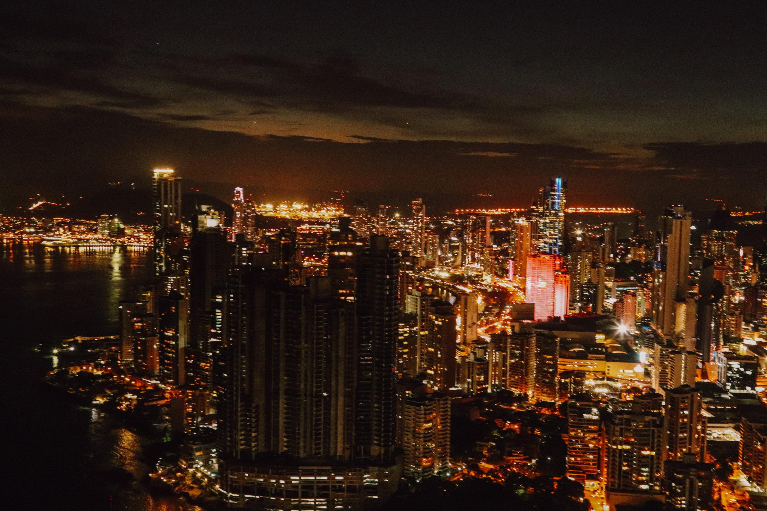 Sonnenuntergang über Panama City